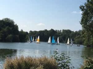 Yachts at Arrow Valley, Redditch