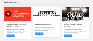 Experts Academy courses