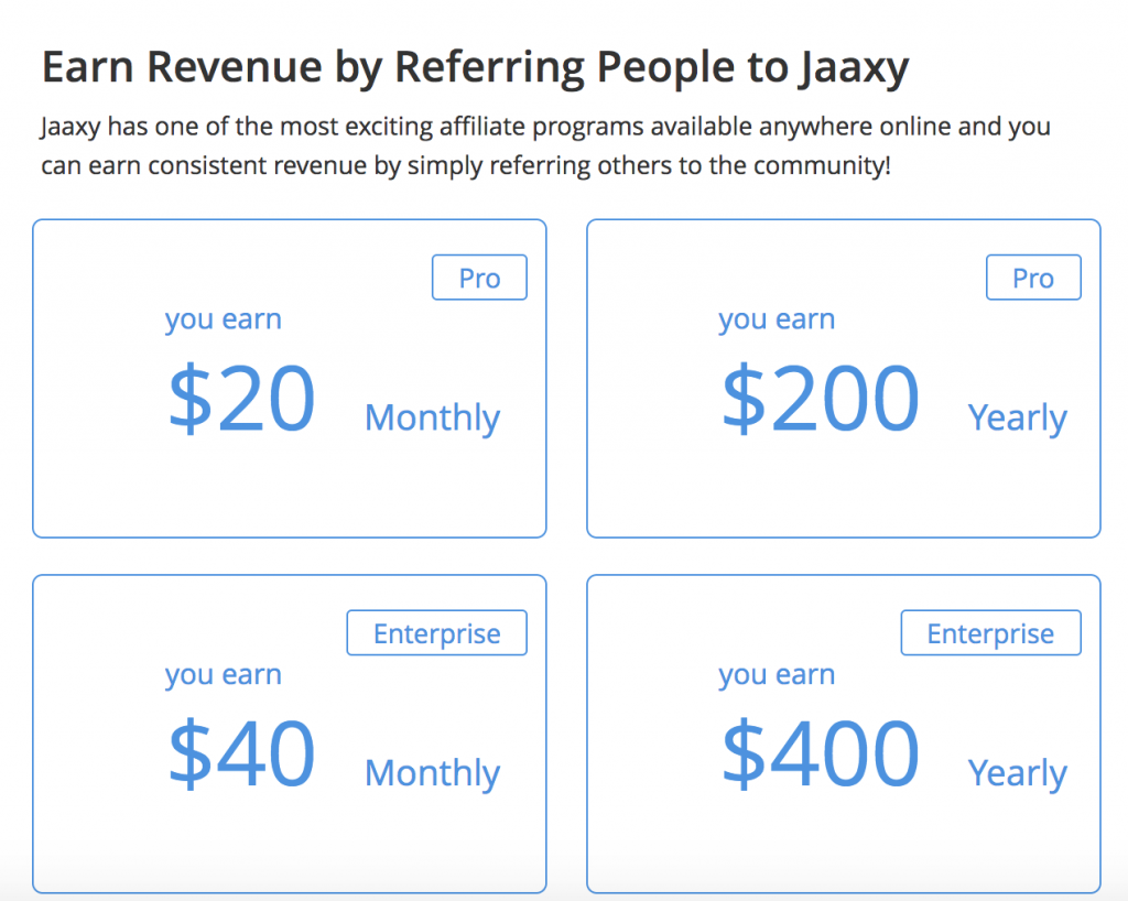 Jaaxy Affiliate Program Rewards