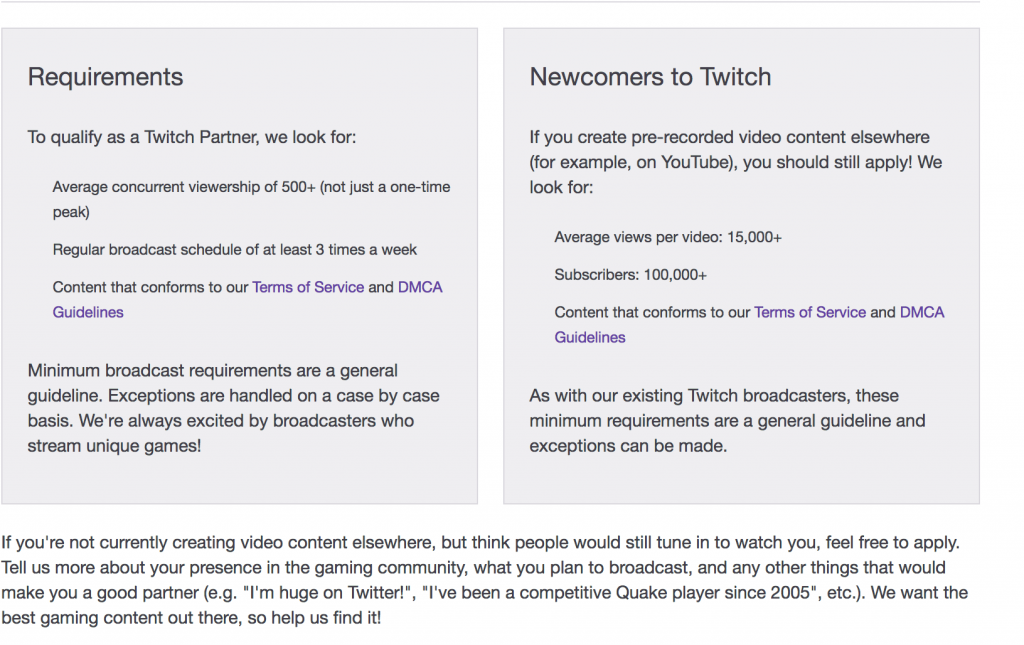 twitch partner guidelines