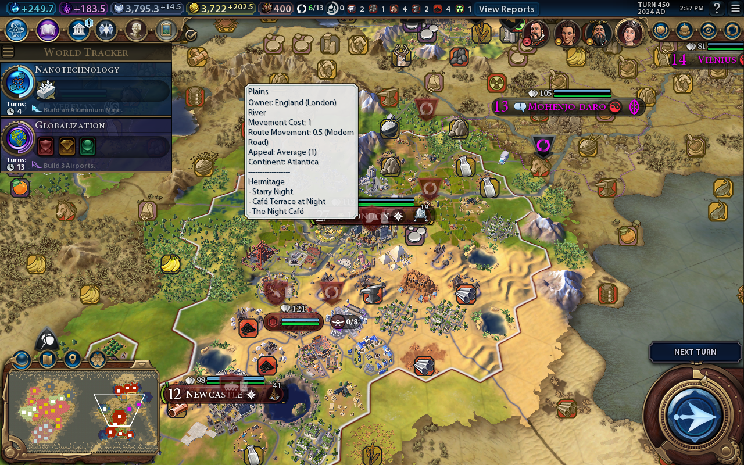 Screenshot of Civilization VI Gameplay