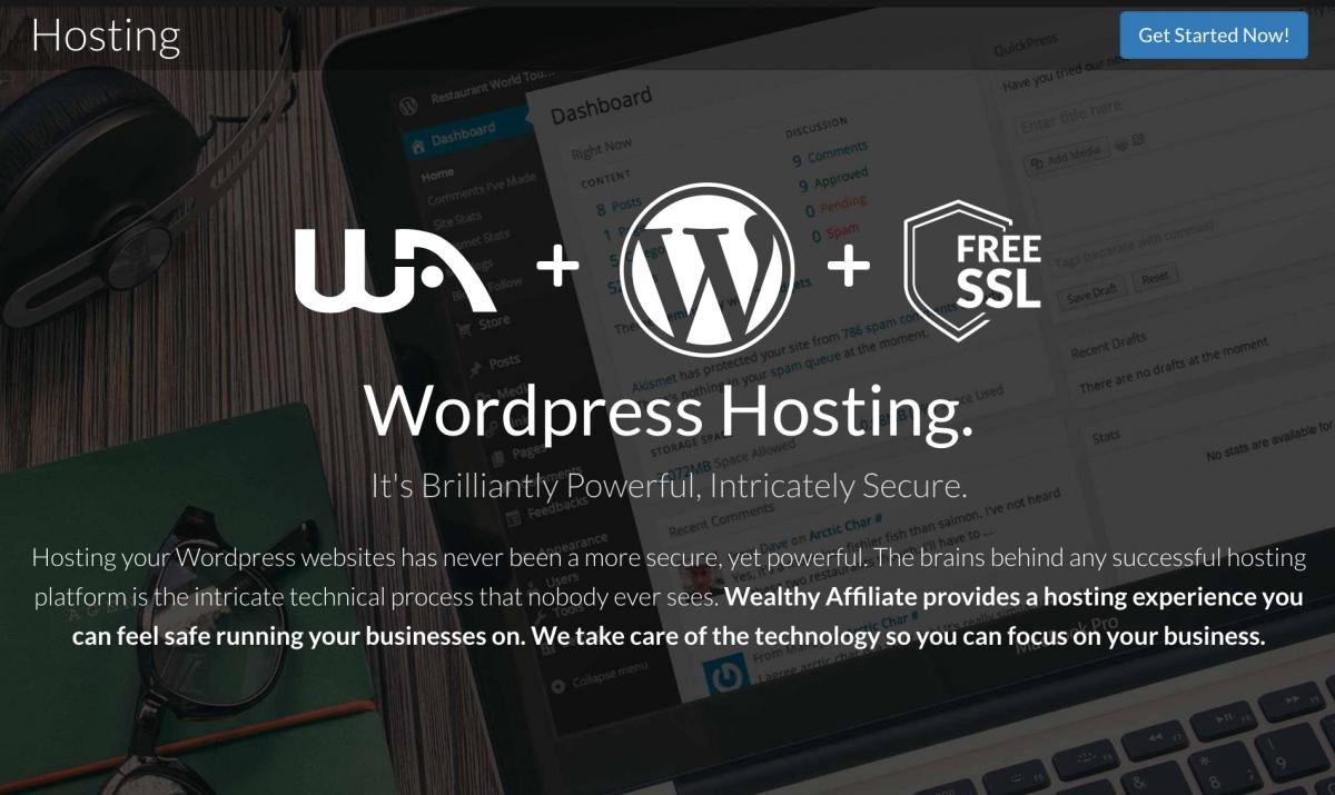 WordPress Hosting + WA + free SSL