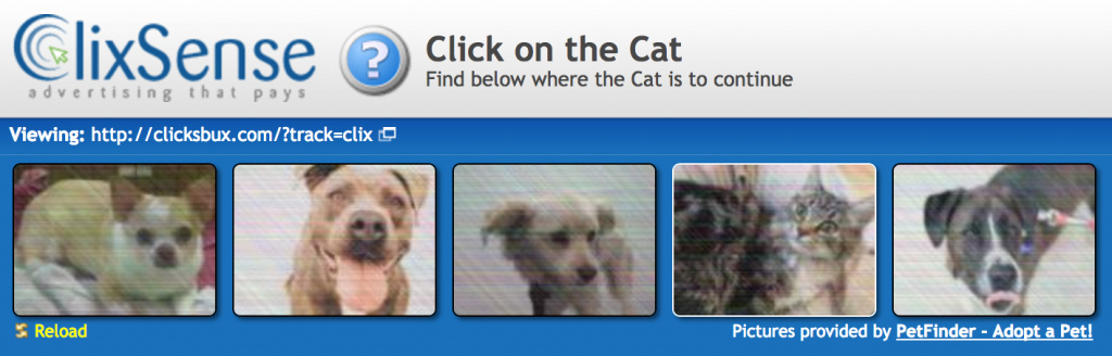 captcha selection