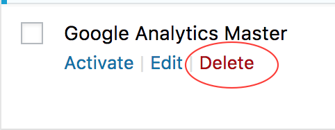delete a plugin