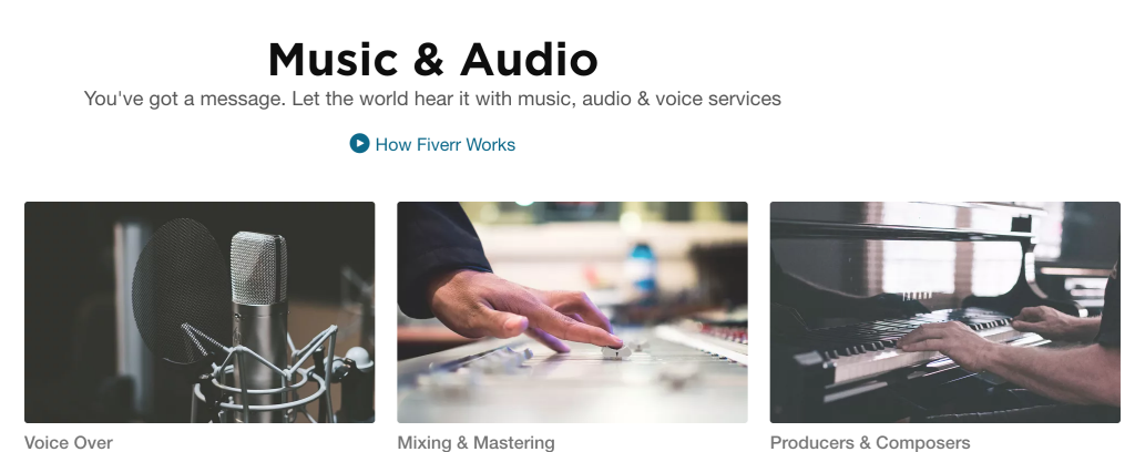 Fiverr - Music & Audio Gigs