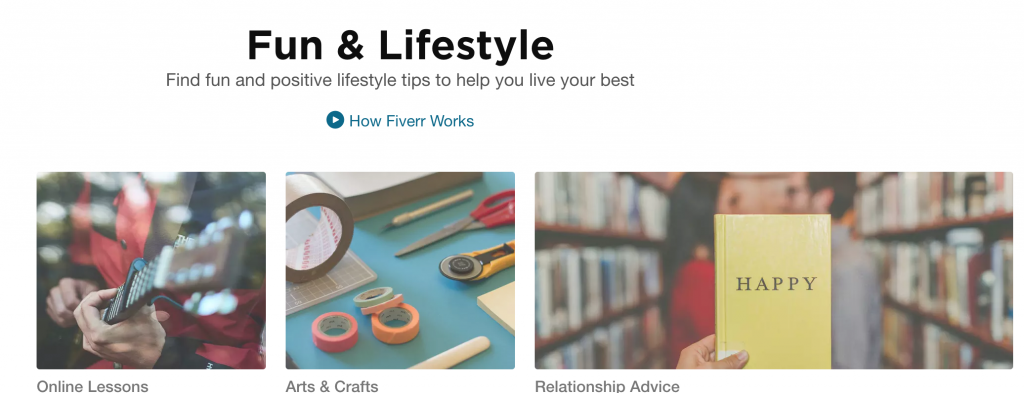 Fiverr - Fun & Lifestyle Gigs